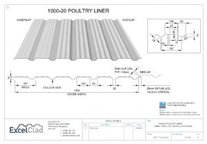 ExcelClad 1000-20 Poultry Liner